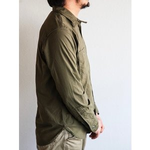 WORKERS(ワーカーズ)〜Metal Button Work Shirts Olive〜|route66amboy|02