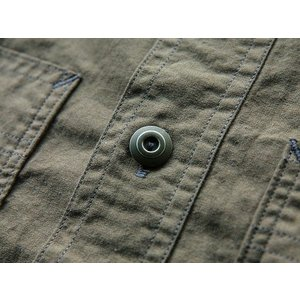 WORKERS(ワーカーズ)〜Metal Button Work Shirts Olive〜|route66amboy|06