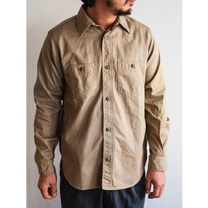 WORKERS(ワーカーズ)〜Metal Button Work Shirts Beige〜|route66amboy