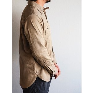 WORKERS(ワーカーズ)〜Metal Button Work Shirts Beige〜|route66amboy|02