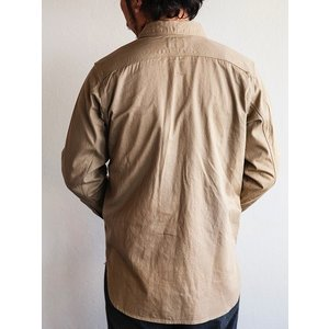 WORKERS(ワーカーズ)〜Metal Button Work Shirts Beige〜|route66amboy|03
