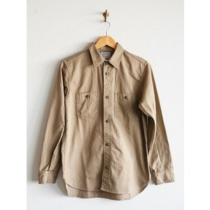 WORKERS(ワーカーズ)〜Metal Button Work Shirts Beige〜|route66amboy|04