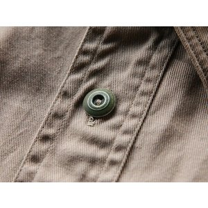 WORKERS(ワーカーズ)〜Metal Button Work Shirts Beige〜|route66amboy|08