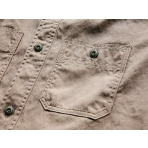 WORKERS(ワーカーズ)〜Metal Button Work Shirts Beige〜|route66amboy|09