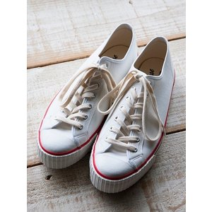 WAREHOUSE(ウェアハウス)〜LOW CUT CANVAS SNEAKER WHITE〜|route66amboy