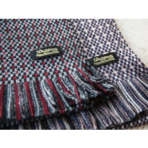 Dapper's(ダッパーズ)〜Russell Knitting Woolen Scarf〜|route66amboy|02