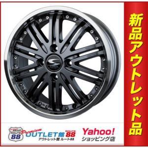 サマータイヤホイール4本SET アウトレット特別価格 155/65R14 エスホールド エレノアCE  ガンメタ/リムポリッシュ|route88-s