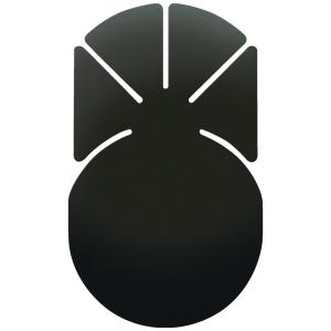 貼付ベース 扇 大 VP93 槌屋ヤックおまかせ便1 送料無料【取り寄せ品】