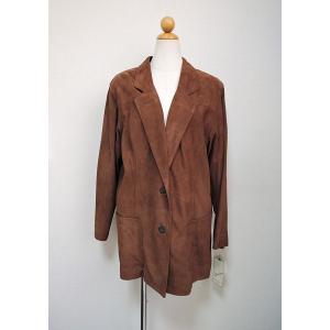 ラムレザー スウェードジャケット UNISEX おしゃれジャケット アウター 秋 冬ジャケット ブラウン|rovel