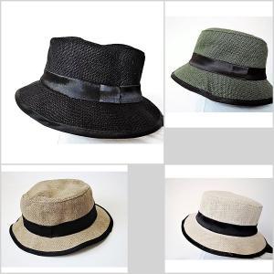 カンカン帽 麦わら帽子 ストローハット 麻素材 紫外線対策 レディースハット レディース帽子|rovel