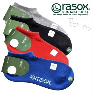 ラソックス rasox メンズ レディース 靴下 ベーシック・スニーカー 靴下 くつ下 スニーカーソックス|rovel