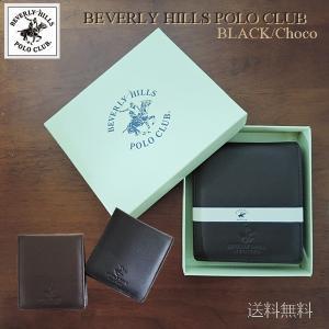 メンズ財布 二つ折り財布 レザー 財布 ウォレット 牛革 mens BEVERLY HILLS POLO CLUB ビバリーヒルズポロクラブ 二つ折り財布 二つ折り 男性|rovel