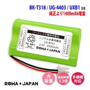 パナソニック UG-4403 HHR-T317 BK-T317 P-AA42/1BA01 BTA005AE BTA021AE コードレス子機 充電池 互換  ロワジャパン|rowa