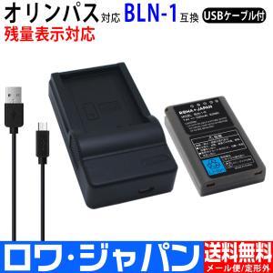 OLYMPUS オリンパス BLN-1 互換 バッテリー と USB充電器 セット【ロワジャパン】