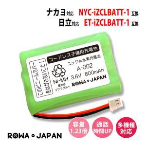 ナカヨ NYC-CLBATT-1 / 日立 ET-CLBATT-1 コードレス子機 対応 互換 充電池 ロワジャパン|rowa