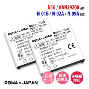 2個セット docomo NTTドコモ N16 AAN29200 互換 電池パック 【ロワジャパン】 rowa