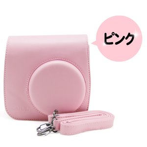 FUJIFILM 富士フイルム チェキ instax mini 8 8s 8+ 9 インスタントカメラ 専用 カメラケース (ピンク)【ロワジャパン】|rowa