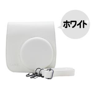 FUJIFILM 富士フイルム チェキ instax mini 8 8s 8+ 9 インスタントカメラ 専用 カメラケース (ホワイト) 【ロワジャパン】|rowa