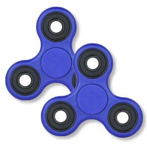 【2個セット】ハンドスピナー Hand Spinner 指スピナー おもちゃ ブルー|rowa
