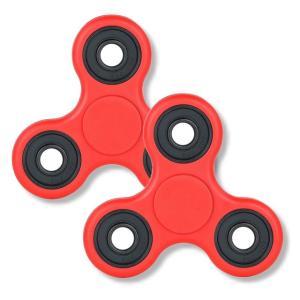 【2個セット】ハンドスピナー Hand Spinner 指スピナー おもちゃ レッド|rowa