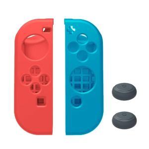 Nintendo Switch ニンテンドースイッチ Joy-Con 専用 カバー ソフトタイプ (L)レッド×(R)ブルー 【ロワジャパン】|rowa