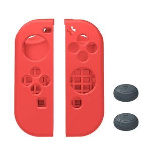 Nintendo Switch ニンテンドースイッチ Joy-Con 専用 カバー ソフトタイプ (レッド) 【ロワジャパン】|rowa