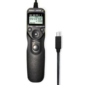富士フイルム RR-80 対応 シャッター リモコン コード レリーズ 液晶LCD タイマー機能付 ...