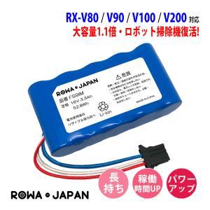SHARP シャープ COCOROBO ロボット掃除機 RX-V80 RX-V90 RX-V100 RX-V200 の UBATiA001VBKZ 互換 バッテリー【ロワジャパンPSEマーク】|rowa