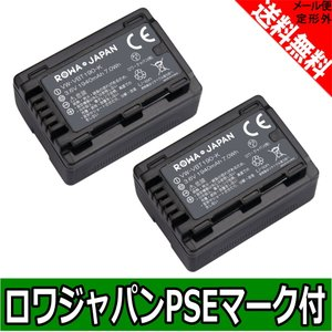 2個セット パナソニック VW-VBT190-K 互換 バッテリー 実容量高 【ロワジャパン】|rowa