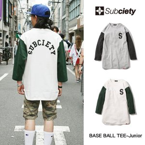 Subciety  BASE BALL TEE-Junior|rowdydog