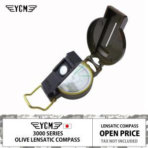 YCM レンザティック コンパス 3700OB | オリーブブラウン | 日本製 | 高性能 | 方位磁石 | ブレスレットになるランヤードおまけ|royal-breeze
