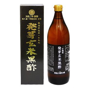 米夢の郷 発芽玄米黒酢 900ml×1本|royal-net