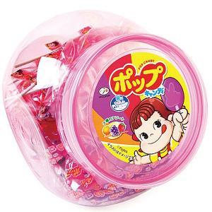 不二家 容器入り ポップキャンディー 430g(約66本)|royal-net