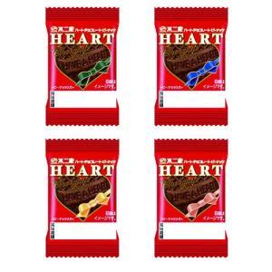 不二家  ミニハートチョコレート<ピーナッツ> 1枚×40コ入 【1コあたり20円】|royal-net