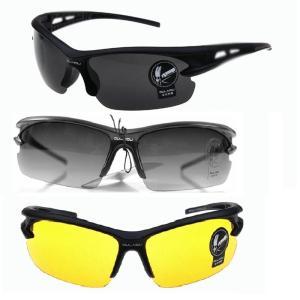 スポーツサングラス UVカット メンズ 防風 UVカット スポーツ アウトドア ドライブ サバゲー ブラックフック付きケース メガネ拭きクロス付き 3色展開