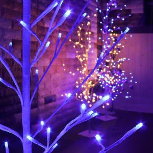 LED イルミネーション ツリー 120cm | 2Dツリー シャンパンゴールド 枝ツリー オーナメント ブランチツリー 屋外イルミネーション モチーフライト クリスマス|royal3000