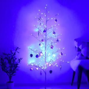 LED イルミネーション ツリー 180cm | 2Dツリー シャンパンゴールド 枝ツリー オーナメント ブランチツリー 屋外イルミネーション モチーフライト クリスマス|royal3000