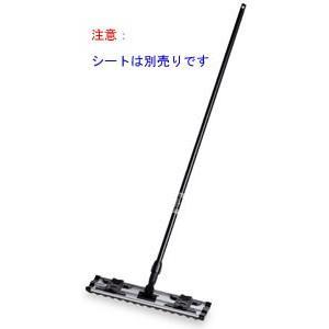 代金引換不可 シートモップ柄黒60cm (業務用) | フローリングワイパー 掃除用具 フロアワイパー 掃除用品 お掃除用品 床掃除 モップ|royal3000