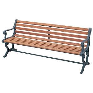 代金引換不可 屋内外用ベンチ  天然木  背付肘付RYB-77L-WN (業務用) |  家具 ガーデンファニチャー ウッドチェア 背もたれ 庭 屋外用チェア 椅子 チェア|royal3000