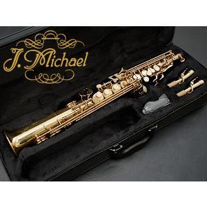 Jマイケル J.Michael SP-650 ソプラノサックス セミハードケース付 初心者入門用にも...