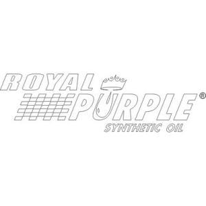 【正規輸入】ロイヤルパープル 抜き文字タイプステッカー 白 royalpurple