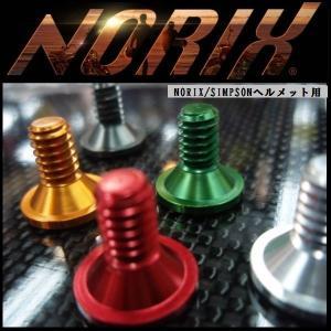 NORIX/SIMPSON 対応 アルミシールドスクリュー ヘルメット用 AL17S rpsksp