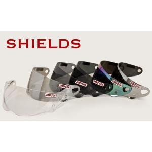 SIMPSON ヘルメット RX10・ダイアモンドバック・SB13・アウトロー 『四兄弟』 対応シールドミラー rpsksp