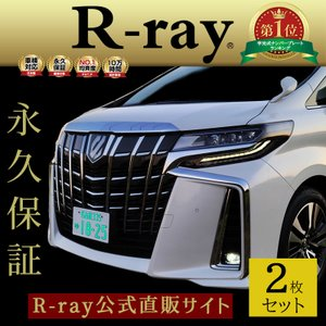 字光式 ナンバープレート LED 照明器具 車検対応 12V専用 日本製 R-ray アールレイ 2...