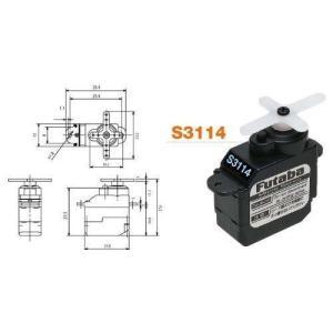 S3114 (飛行機用 超小型 マイクロ アナログ サーボ) 00106524-3|rrcompany