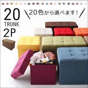 20色から選べる、折りたたみ式収納スツール【TRUNK】トランク 2P|rrd