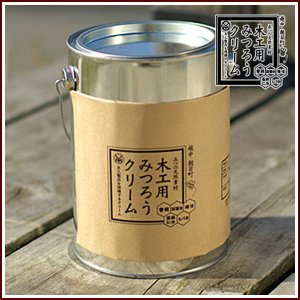 国産 厳選 蜜ろう使用 木工用みつろうクリーム 1800g|rrd