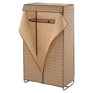 ぼん家具 ハンガーラック カバー付 上棚付き 幅92cm ワードローブ クローゼット 簡易 衣類収納