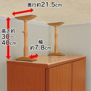 アイリスオーヤマ 防災グッズ 家具転倒防止伸縮棒 S 高さ30-40cm ブラウン KTB-30