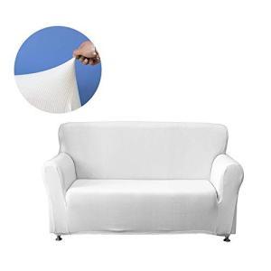 Lemonda 高級感のある絞り生地と吸い付くようなフィット感肘付き ソファーカバー ストレッチ素材...